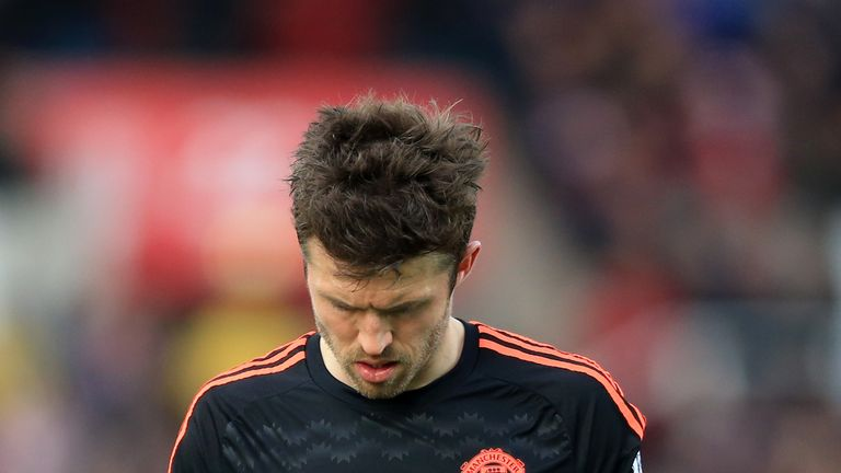 Michael Carrick was unahappy with his team's performance on Thursday night