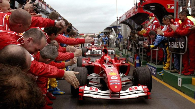 German Ferrari driver Michael Schumacher and Canadian Williams ...