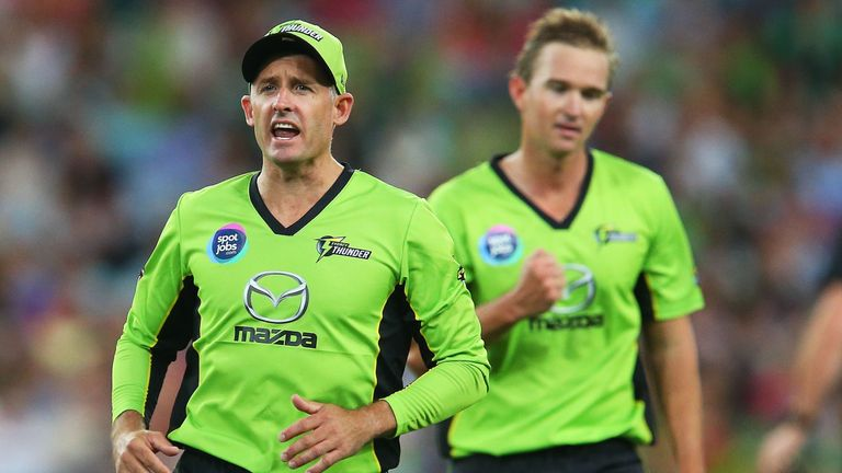 Mike Hussey was playing his last game of cricket in Australia in the Thunder's final win