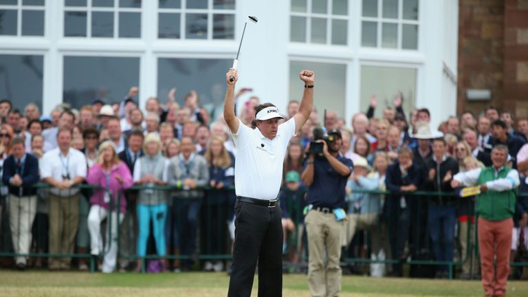 A week later, Mickelson stormed to Open glory at Muirfield