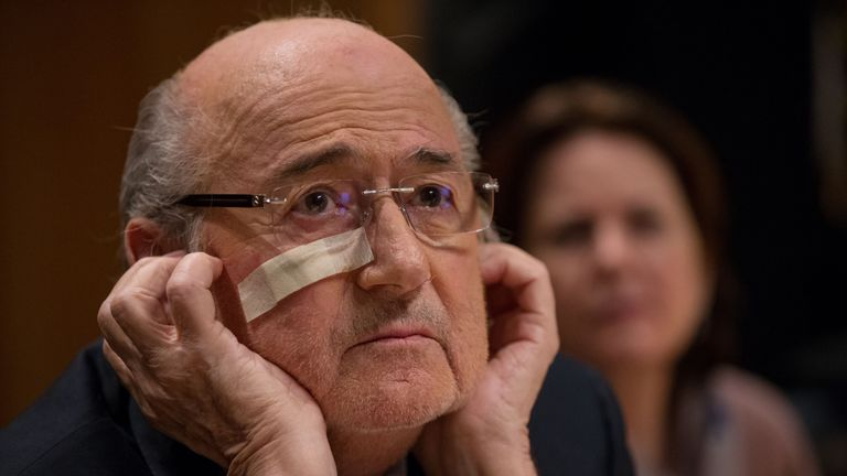 Blatter is currently fighting his eight year ban from all football related activity