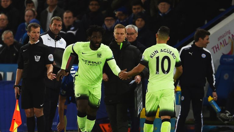 Wilfried Bony has struggled to dislodge Sergio Aguero up front for City