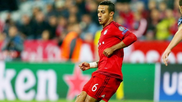 Thiago Alcantara has shone for Bayern after following Guardiola from Barcelona