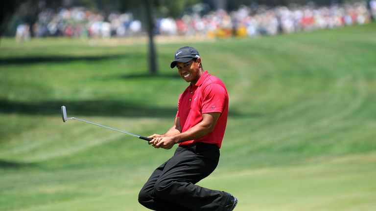Woods claimed a 14th major title with a dramatic play-off at Torrey Pines