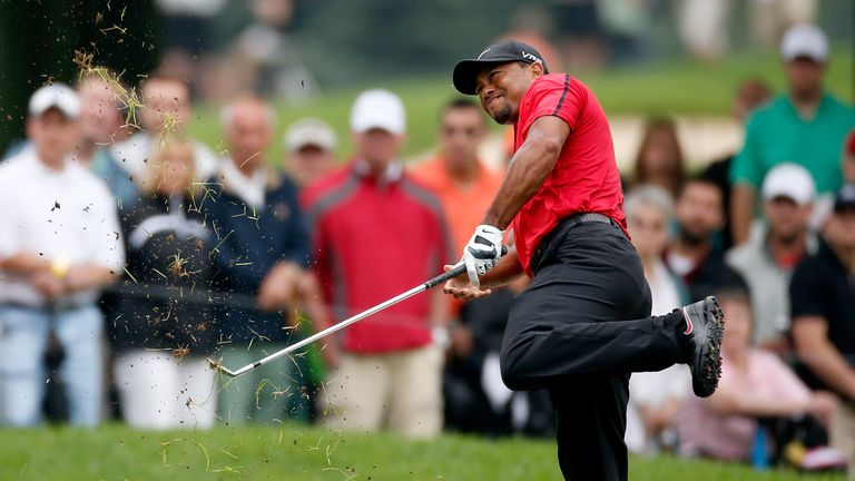 Woods was unable to defend his title at Firestone