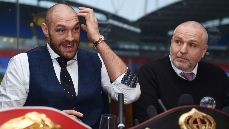 Peter Fury wants WBO and WBA super champion Tyson Fury to fight Anthony Joshua after his rematch with Wladimir Klitschko
