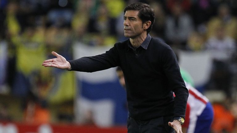 Villarreal manager Marcelino saw his side eliminated from the Europa League