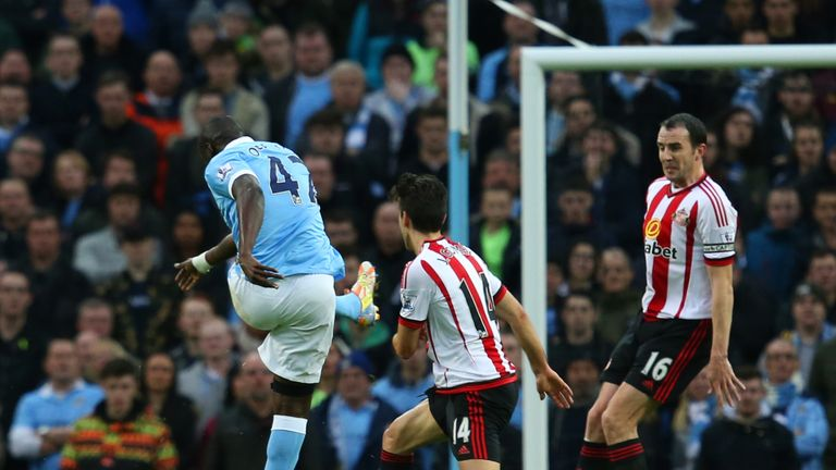 Yaya Toure starred in Man City's victory over Sunderland