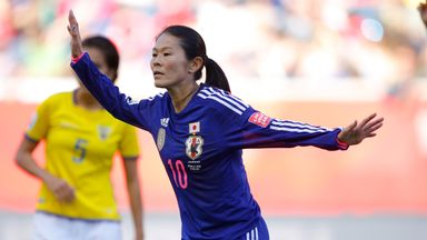 Homare Sawa in action for Japan at this year's World Cup
