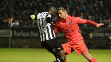 Zlatan Ibrahimovic in action for PSG against Angers