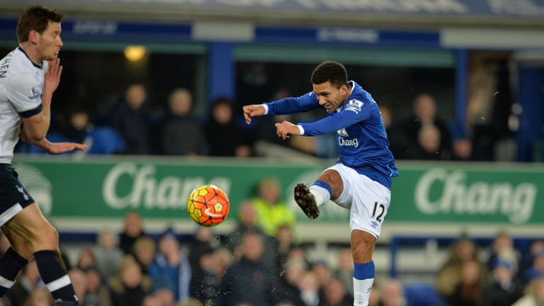 Aaron Lennon put Everton in front midway through the first half