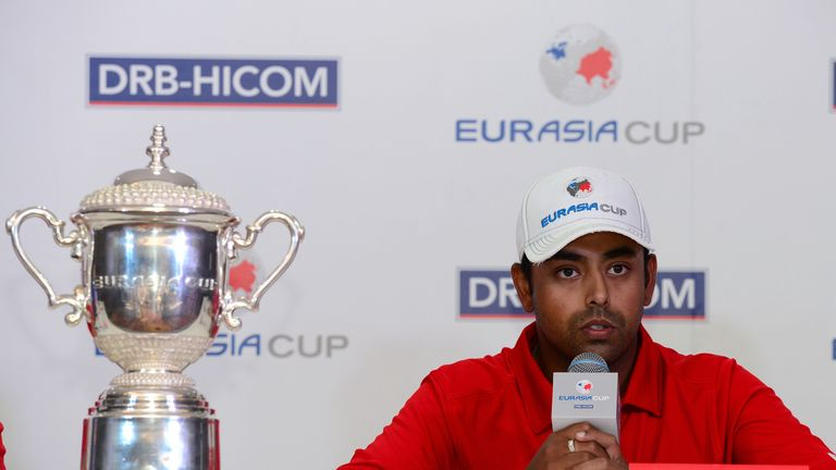 Anirban Lahiri spoke to the media on Tuesday ahead of the EurAsia Cup