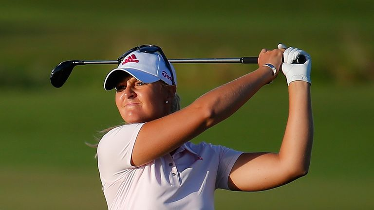 Nordqvist roared to the turn in 32 and also birdied two of the last four in her 68