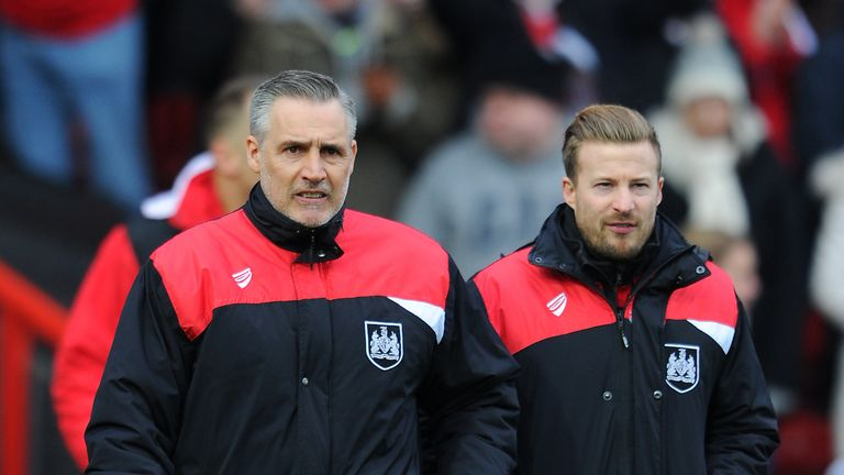 John Pemberton (L) and Wade Elliott have taken over as Bristol City caretaker managers since the sides first met