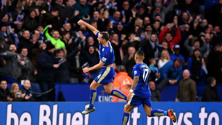 Danny Drinkwater put Leicester ahead with his first Premier League goal