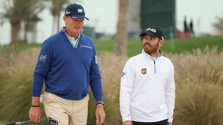 Oosthuizen featured alongside Ernie Els during the opening round