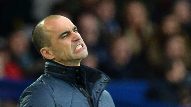 Roberto Martinez's Everton side are winless in five