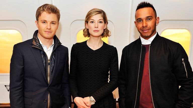 Actress Rosamund Pike also attended the launch in Geneva