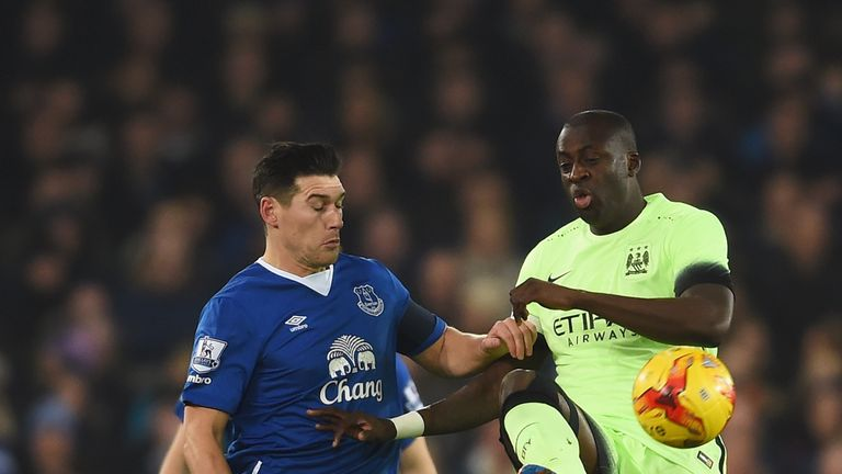 Yaya Toure came off second best against Gareth Barry's Everton in midweek