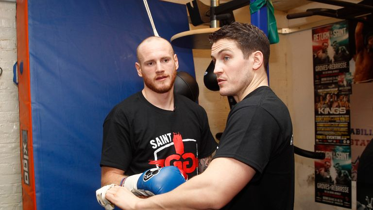 George Groves is now trained by Shane McGuigan (R)