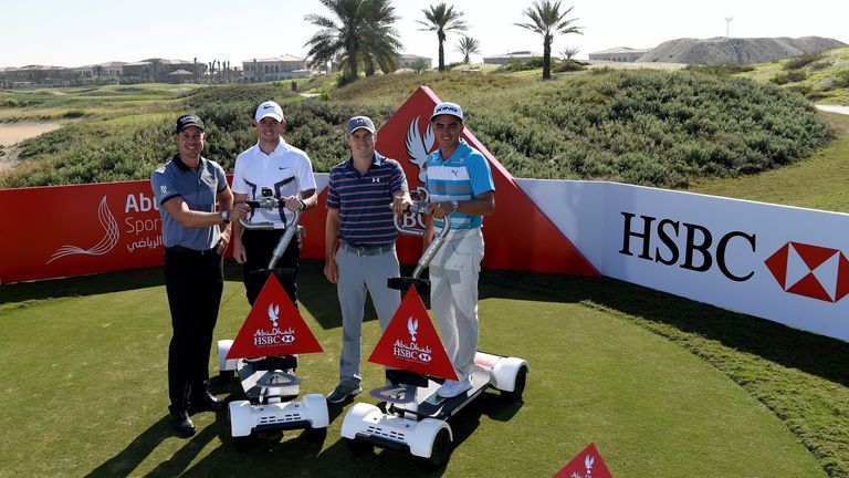 Henrik Stenson, Rory McIlroy, Jordan Spieth and Rickie Fowler ahead of the Rider Cup Desert Challenge