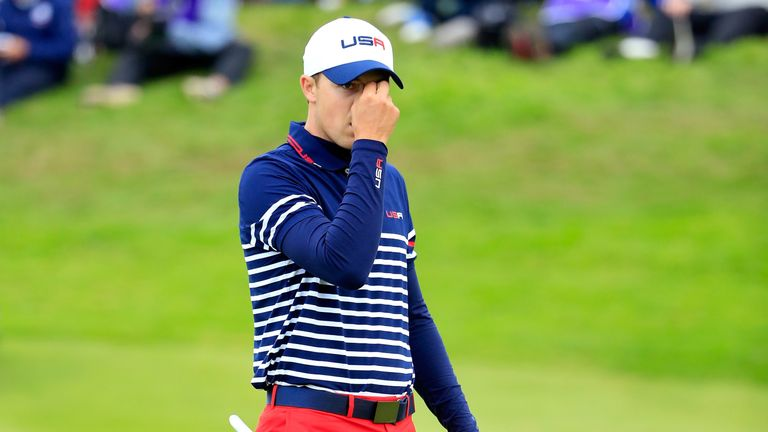 Jordan Spieth made his Ryder Cup debut at Gleneagles in 2014