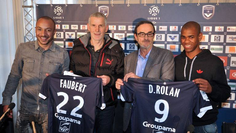 Faubert (left) returned to Bordeaux for a second spell in January 2013