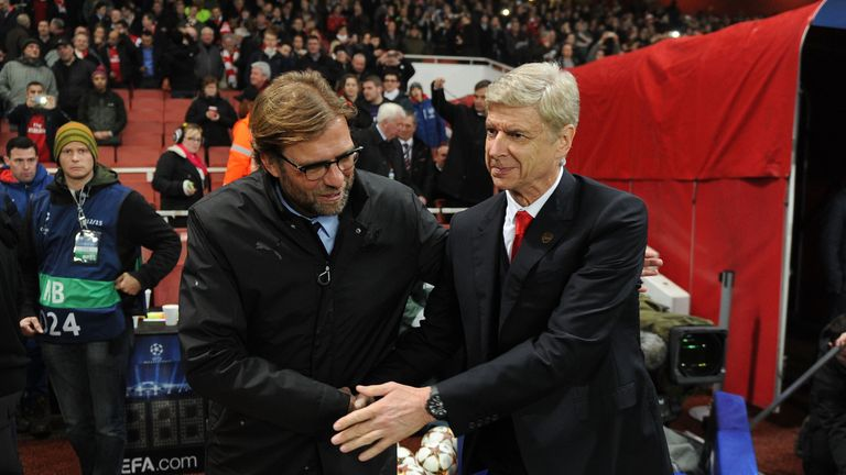 Klopp (left) has faced Arsene Wenger on six previous occasions