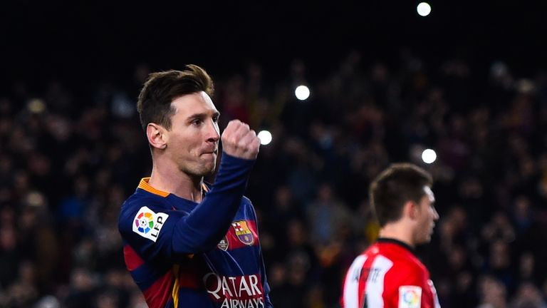 Lionel Messi scored before being taken off at half-time