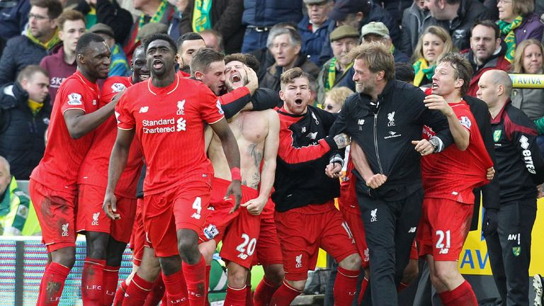 Klopp lost his glasses in the celebration melee