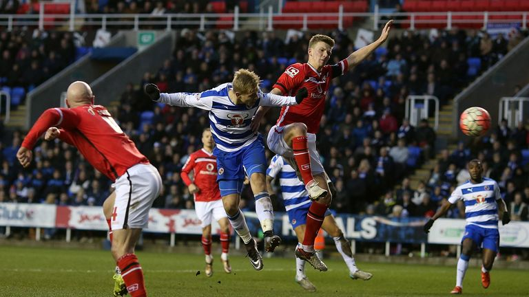 Vydra scores his team's fourth goal