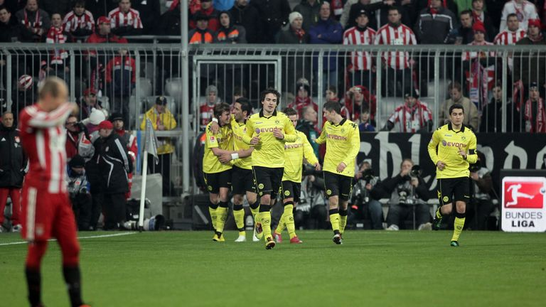 Dortmund got their first Bundesliga win at Bayern in 20 years in February 2011