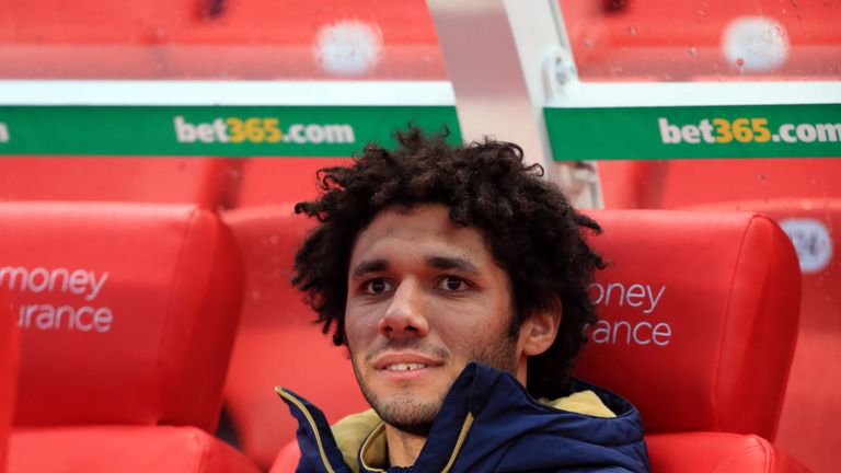 Arsenal's Mohamed Elneny could be set for his Arsenal debut against Burnley