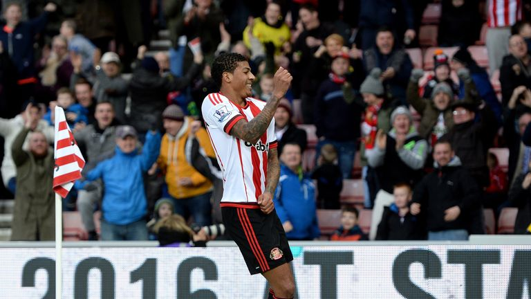 Patrick van Aanholt drew Sunderland level on the stroke of half-time