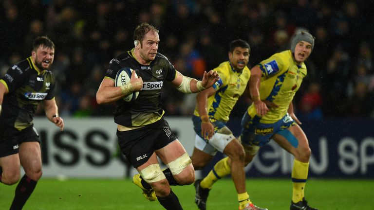 Alun Wyn Jones starred in the Ospreys' comeback win over Clermont