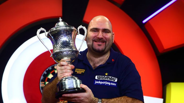 Scott Waites celebrates winning the BDO World Championship