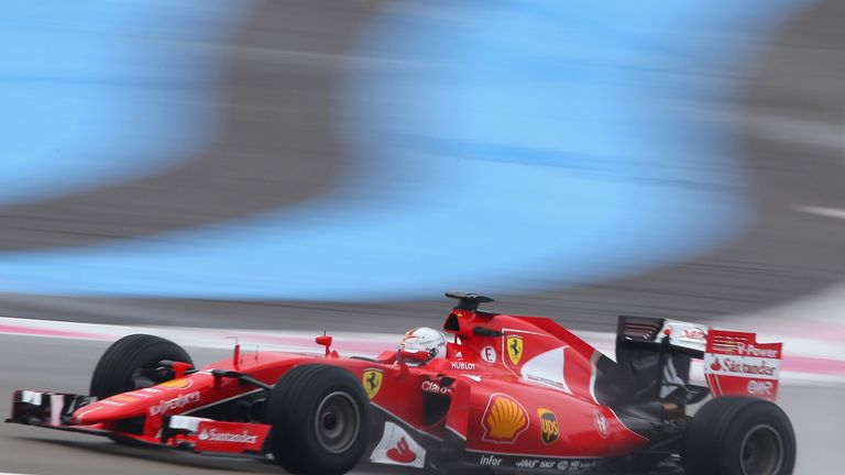 Vettel gave the 2015 Ferrari its final outing before F1 retirement