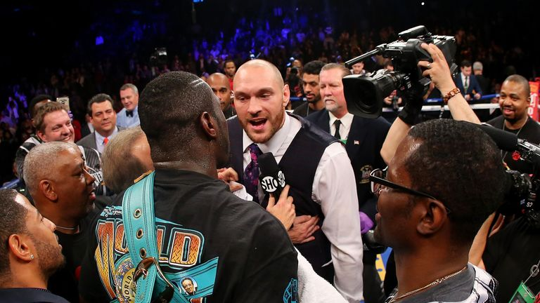 Tyson Fury met Charles Martin after going went face-to-face with Deontay Wilder