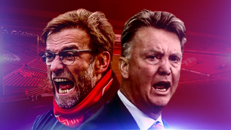 Jurgen Klopp and Louis van Gaal will resume their rivalry on Sunday