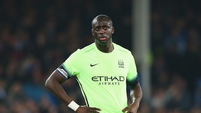 Yaya Toure has been substituted in three of City's last four games