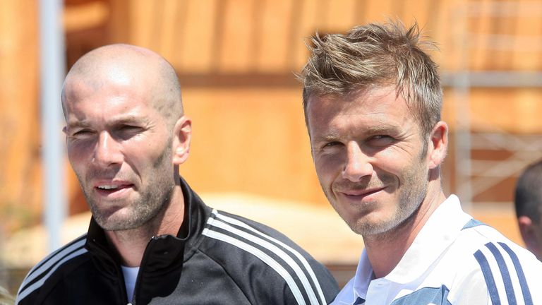 Zidane played alongside David Beckham at Real Madrid