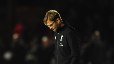 Klopp was left deflated after Liverpool's FA Cup exit