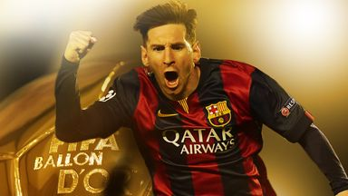 Barcelona's Lionel Messi is the reigning FIFA World Player of the Year