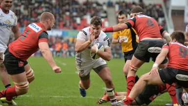 Sean Reidy, pictured scoring a try for Ulster, has been included in Ireland's squad to tour South Africa