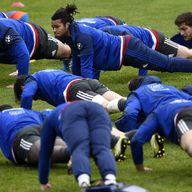 France wing Teddy Thomas (middle) will start against Ireland