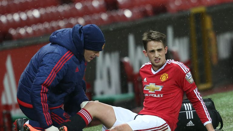 Adnan Januzaj receives treatment
