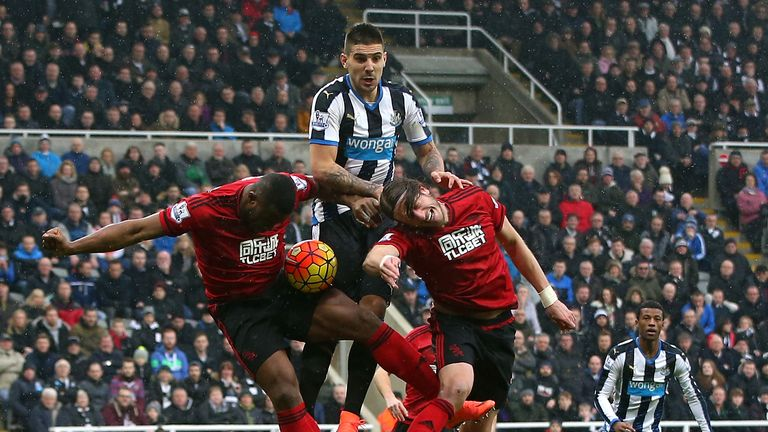 Mitrovic in action for Newcastle