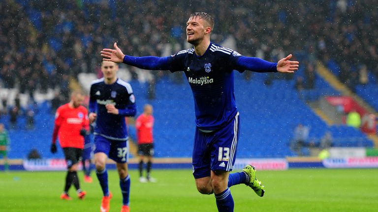 Anthony Pilkington scored as Cardiff cruised to a 3-0 lead inside 30 minutes