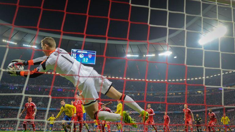 Bayern Munich's goalkeeper Manuel Neuer  denied Arsenal a famous fightback