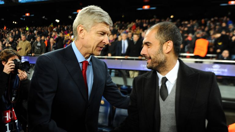 Image result for arsene wenger pep guardiola